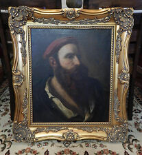 Antique 18th C. French Old Master Portrait Oil Painting Art O/C Gentleman Man