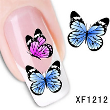 NAIL ART DIY BLACK DECAL TIPS 3D Retro Flower WATER TRANSFER STICKERS Decoration