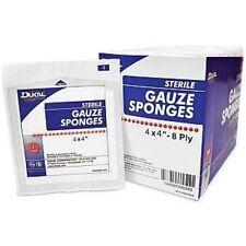 """Dukal 8 Ply Sterile Gauze Sponges 4"""" X 4"""""""