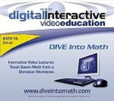 DIVE Instructional CD-ROM Saxon Math 7/6 (Grade 6) - 3rd Edition  NEW