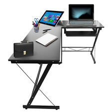 L Shape Corner Computer PC Desk Table Workstation Home Office Corner Furniture