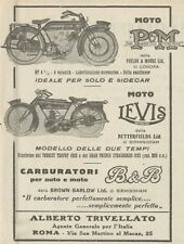 Y7872 Moto PM & LEVIS - Pubblicità d'epoca - 1923 Old advertising