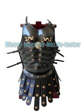 ROMAN MUSCLE ARMOR CUIRASS BLACK MUSCLE ARMOR W/APRON BELT HALLOWEEN COSTUME