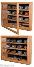 CHALLENGE COIN COLLECTOR WALL HANGING SOLID OAK WOOD DISPLAY CASE