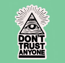 Don't Trust Anyone Clear Transparent Sticker Bomb Vinyl Decal Eye Of Providence