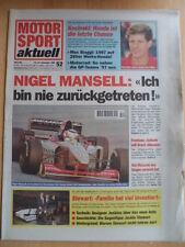 MOTOR SPORT aktuell 18-24.12. 52 - 1996 Nigel Mansell Kocinsky Jackie Stewart