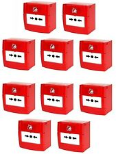 10x KAC Fire Alarm, Conventional Break Glass Manual Call Point 470ohm