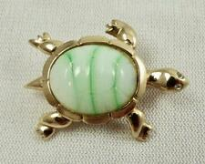 Vintage Goldtone Figural TURTLE Thermostat Jelly Belly Brooch/Pin