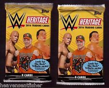 Lot of 2-2016 Topps WWE Heritage Auto/Plate/Patch/Kiss/Mat/Shirt/Relic Hot Packs