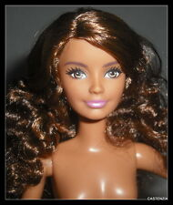 NUDE BARBIE PETITE CURLY LONG HAIR FASHIONISTA EVOLUTION DOLL FOR OOAK 4169