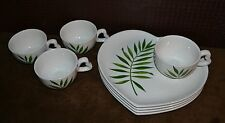 Lunch Snack Plates w/Lg Coffee Mugs Heart Shape Italy ESTE CE RARE & Exquisite!