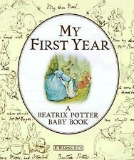 Beatrix Potter BABY BOOK My First Year Album Keepsake UNUSED Hardcover w/padding