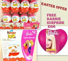 24 Kinder JOY Surprise for GIRLS Chocolate BARBIE FREE GIFT Eggs EGG EASTER