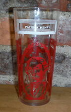 RARE Patrick Henry Drinking Glass Vintage RED Give Me Liberty Peanut Butter Jar
