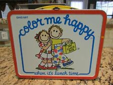 VINTAGE GOOD OLD 1984 COLOR ME HAPPY OHIO ART METAL LUNCHBOX
