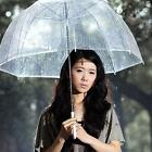 Fashion Transparent Clear Dome Automatic Rain Umbrella Parasol for Wedding Party