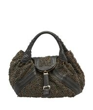 Fendi Limited Edition Spy Brown Zucca Canvas & Leather Shoulder Bag