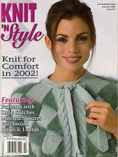 Knit n Style February 2002 Reversible Coat Barbie Machine Knitting Patterns