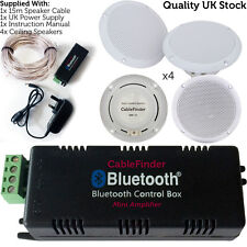 Wireless/Bluetooth Amplifier & 4x 80W Ceiling Speaker Kit –Home Hi-Fi Amp System