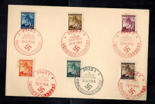 1942 Bohemia Moravia Germany Stamps and Cancels Cover on paper April 20 Birthday