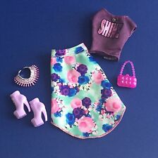 Barbie So In Style S.I.S. Grace Ensemble w Skirt Top Shoes Accessories