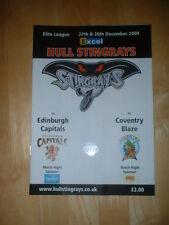 2009/10 CASCO RAYAS V Edimburgo capitales & Coventry Blaze hockey sobre hielo