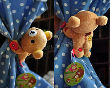2pcs San-X Rilakkuma  Cute Bear Plush Curtain Buckle Cartoon Curtain RK002