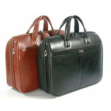 Leather Briefcasero Black Laptop Briefcase Genuine Leather Business Document Bag