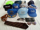 Vintage Lot Boeing Baseball Cap Hat Snapback Aviator Sunglasses Neck Tie