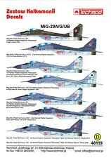 Techmod Decals 1/48 MIKOYAN MiG-29A MiG-29G & MiG-29UB FULCRUM Polish Air Force