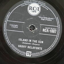78rpm HARRY BELAFONTE island in the sun / cocoanut woman