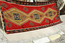 Cr1900-1939s Antique Long  5'5''x14'3'' Tent Woven Kilim-Adana  Afshar  Nomads