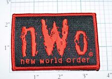 New World Order nWo Red Vintage Iron-On Embroidered Clothing Patch Wrestling WCW