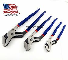 Pro America 7 10 12 in. Tongue & Groove Joint Plier Set Angle Nose MADE IN USA