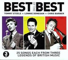 BEST OF THE BEST - TOMMY STEELE-LONNIE DONEGAN-CHRIS BARBER (NEW 3CD BOX SET)