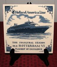 1997 Holland America Line The Inaugural Season MS Rotterdam VI Tile or Trivet VG