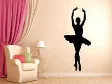 """Ballerina Dancer Ballet Wall Decal Silhouette #3 Wall Decal 36"""" Tall"""
