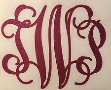 Glitter Custom Vine Monogram Decal For Yeti Rambler Tumbler Colster