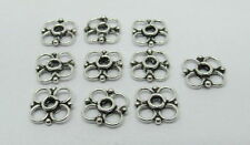 Connector 925 Sterling Silver Flower Shape 10mm Parts 10 Pieces