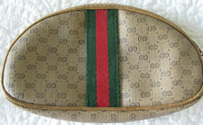"GUCCI made in Italy Vintage Monogram Clutch / Cosmetic Bag 7.5"" x 4"""