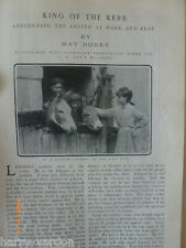 Coster King Kerb Gypsy London Barnet  Covent  Pearly Pearlies 1904 Old Article
