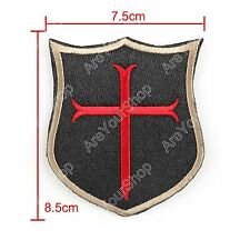 Special Force Devgru Seal6 Crusader Cross Insignia Bordada Hook Loop Patch