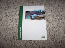 2000-2001 Land Rover Range Rover Navigation System Owner Manual SE HSE 4.6
