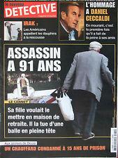 Détective n°1072 (2 avril 2003) Mort de Daniel Ceccaldi - Le Cannet - Douai