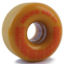 REMEMBER Peewee Roues De Diapositives 62mm 82a Moutarde Longboard Cruiser
