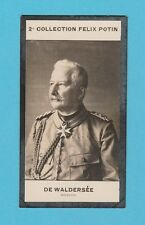 MILITARY  -  FELIX  POTIN  OF  FRANCE  -  MARSHAL  DE  WALDERSEE  -  1908