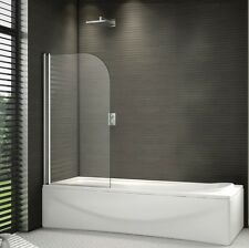 800x1400mm 180° Pivot Shower Bath Screen Frameless Over 6mm Glass Door Panel V8