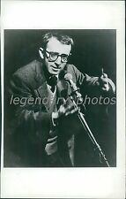 1967 Woody Allen at the Mic, Hand Gestures Original News Service Photo