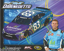 "2016 MATT DIBENEDETTO ""SCIENCE LOGIC BK RACING"" #83 NASCAR SPRINT CUP POSTCARD"