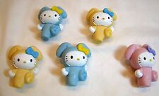 Hello Kitty Easter Bunny Cake Topper Lot (5) PVC Figures